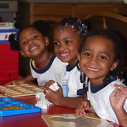 Kids smiling at a day care in Washington, MD