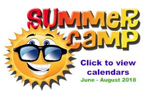 2018 Summer Camp Calendar